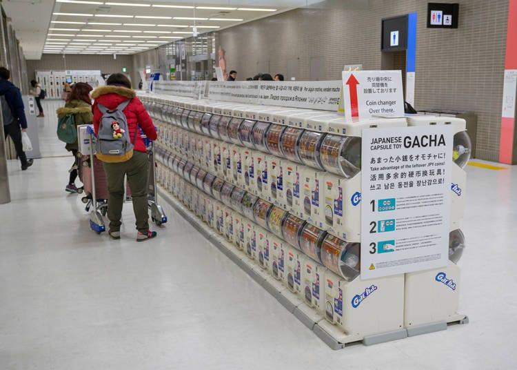 2. Airport gachapon machines!