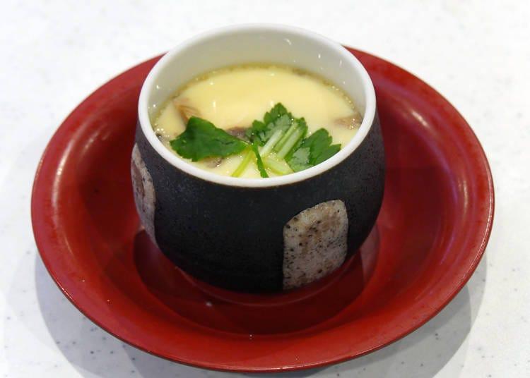 """Healing homemade warm flavor: """"Chawan Mushi"""" (180 yen + tax)"""