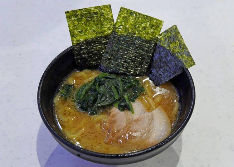 "Popular soup! Original ""Kichijoji Musashi Family Ramen"" (390 yen + tax)"