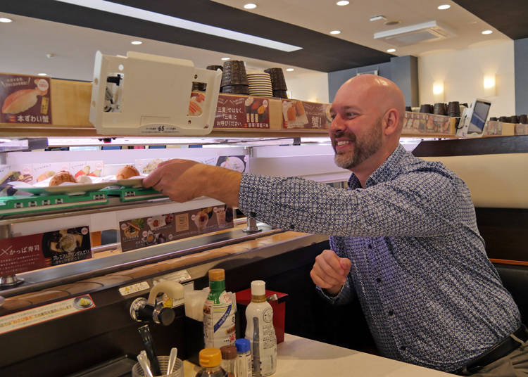 Enjoy it however you like! That is the beauty of the conveyor-belt sushi