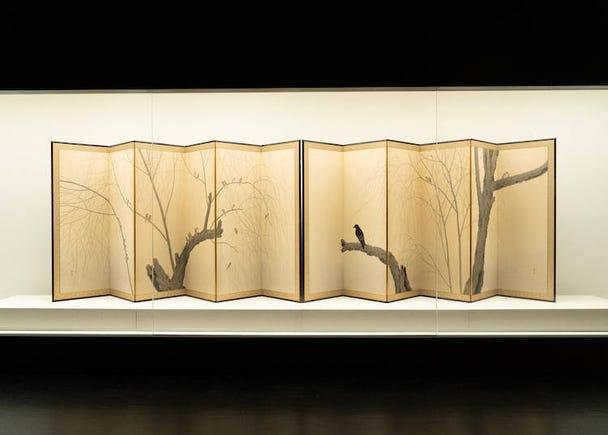 「雀に鴉」 菱田春草(1910年)