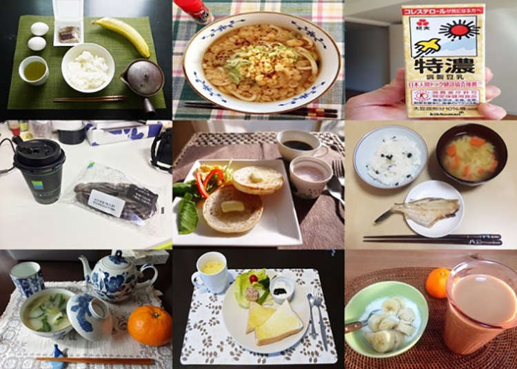 What's really for breakfast? 20 Japanese people give us a peek at their morning meal (Photos)