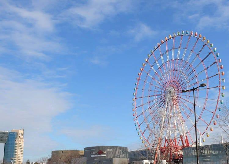 台场地标「palette town摩天轮」:搭上摩天轮眺望东京吧