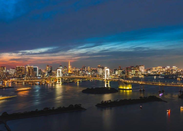 東西南北で異なる夜景を楽しめる客室が揃う「グランドニッコー東京 台場」