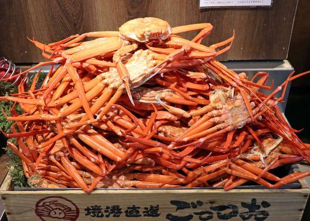 上野「境港直送螃蟹处GOZZO」午间吃到饱方案,整只螃蟹吃透透