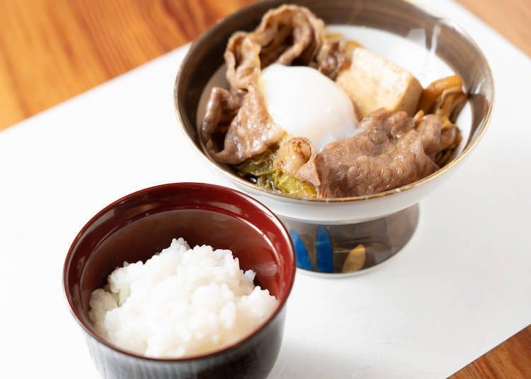 """日本米 x 日本料理的究极美食搭配之三 """"冈山县产有机JAS合鸭耕种法越光米""""x""""寿喜涮炖美熊野牛"""""""