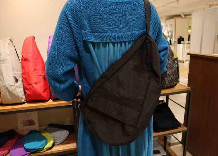 水滴包的實用特色① 可減輕身體負擔的貼合設計