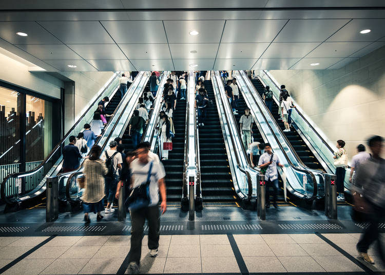 7. Walking on the wrong side of the escalator (or stairs!)