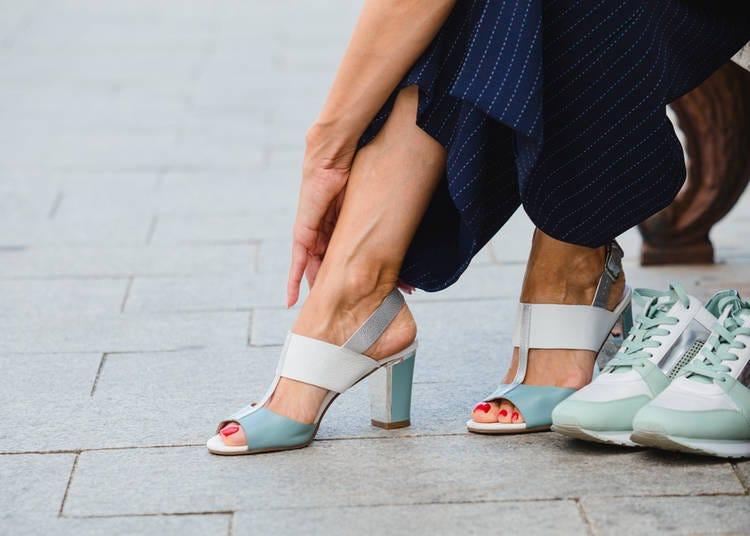 8. Wearing inconvenient shoes