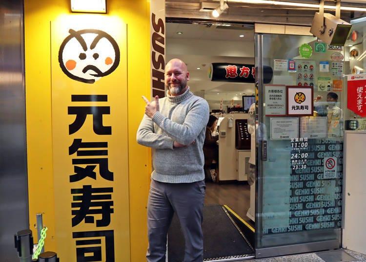 If you want a taste of authentic Japanese sushi head to Genki Sushi in Shibuya!