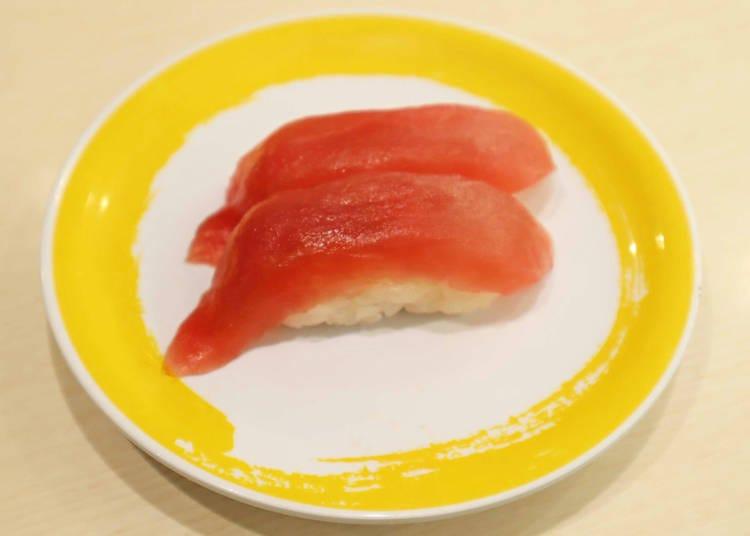人気のネタNo.1は、やはりお寿司の王様!「まぐろ」(2貫120円/税別)
