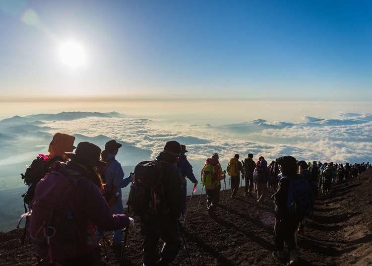 爬富士山新手必看!登山時期、必備品、行前訓練、路線、交通全方位指南