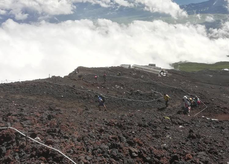 富士山登山注意事项④垃圾请随手带走