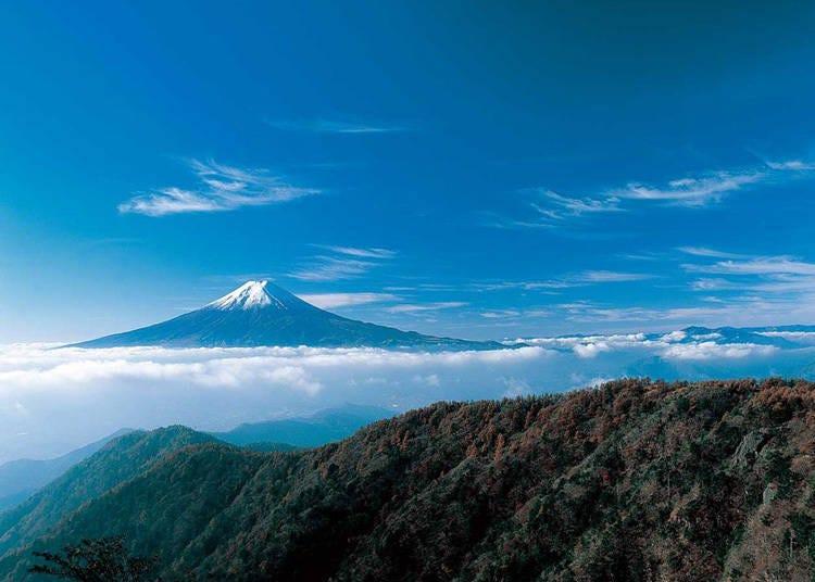 富士五湖地區觀光景點9. 關東著名自然能量景點「三峠山」
