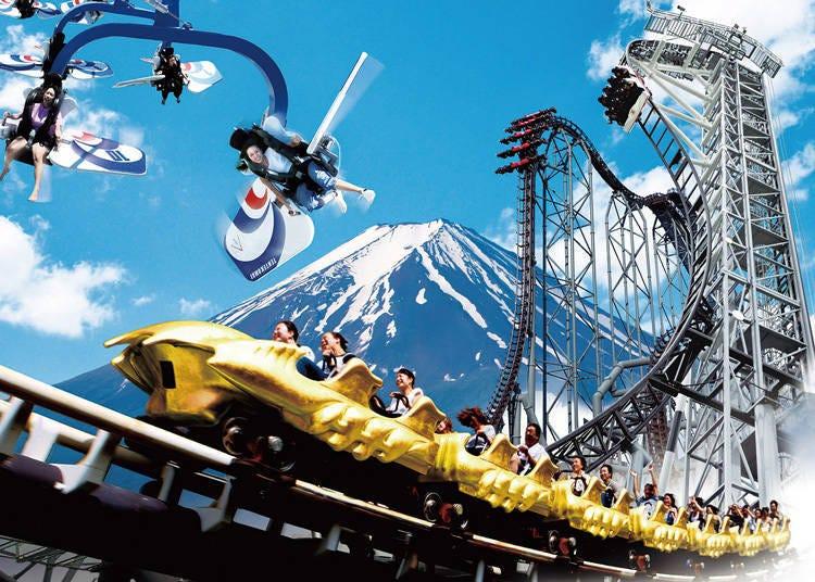 富士山周邊觀光景點3. 以日本代表性絕叫設施而聞名「富士急樂園」