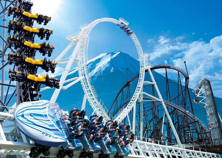 富士急乐园的四大云霄飞车!打破金氏世界纪录的尖叫游乐设施