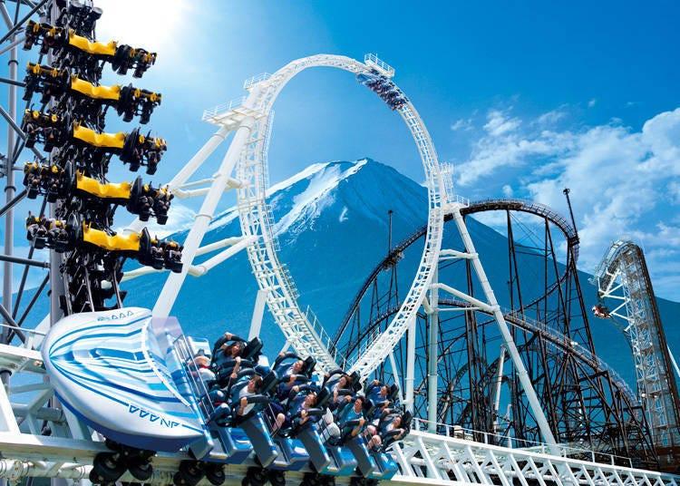 富士急樂園的四大雲霄飛車!打破金氏世界紀錄的尖叫遊樂設施