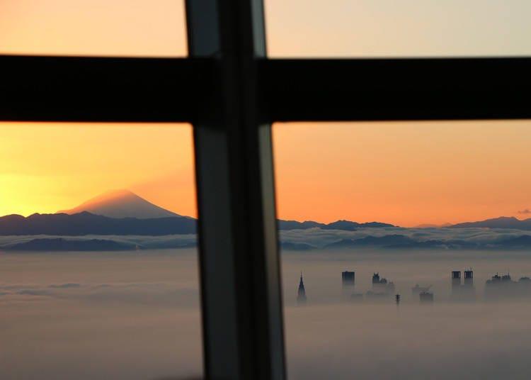 从东京也能看见富士山的景点7. 最著名的东京现代地标也能看见富士山「东京晴空塔」