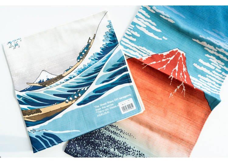 富士山伴手禮6. 浮世繪設計風呂敷巾「Chief隅田川」