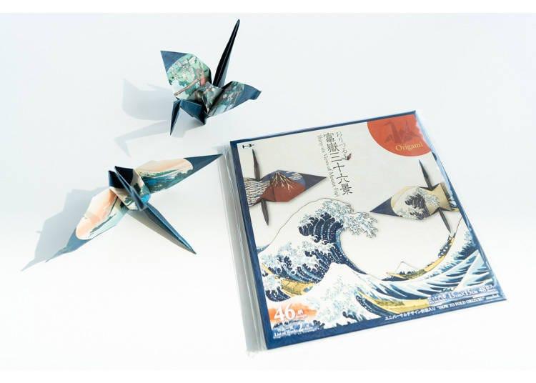 富士山伴手禮7. 用雙手雙眼來體驗日本文化折紙樂趣「紙鶴 富嶽三十六景」
