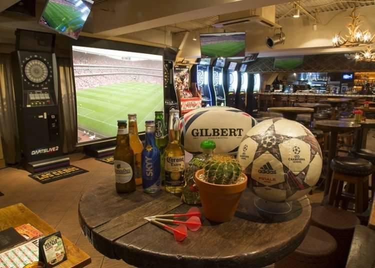 國立競技場周邊推薦景點③ 新宿最大的運動酒吧「Elephant Lounge」