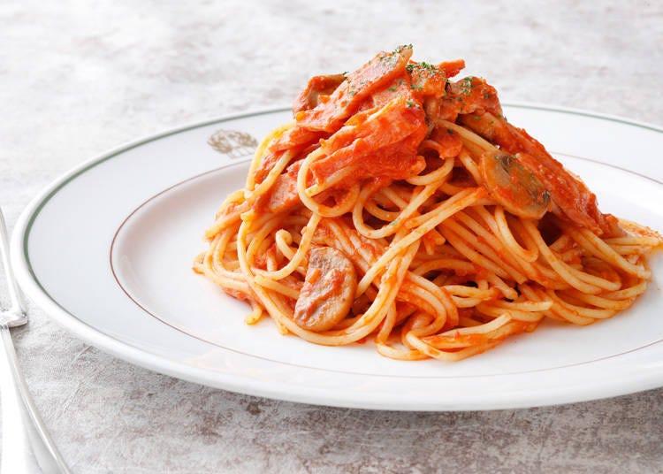 Sightseeing Spot 3: Trying the Neapolitan pasta dish that originated in Yokohama