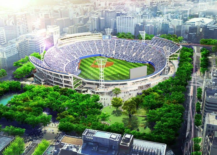 野球ファンが集まる「横浜スタジアム」