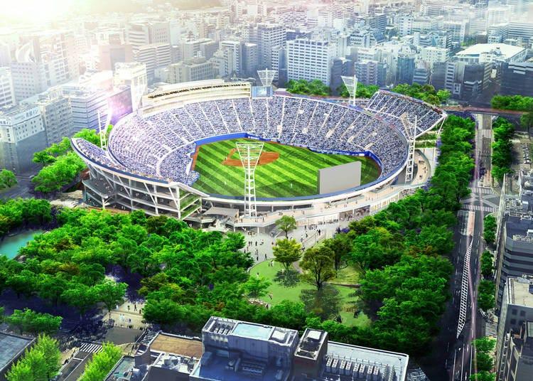 야구 팬들의 함성이 울려 퍼질 '요코하마 스타디움'