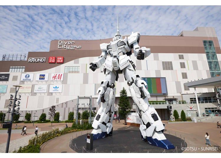 2. Enjoy shopping at Diver City Tokyo Plaza