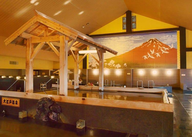 4. Enjoy the hot springs at Tokyo Odaiba Oedo Onsen Monogatari