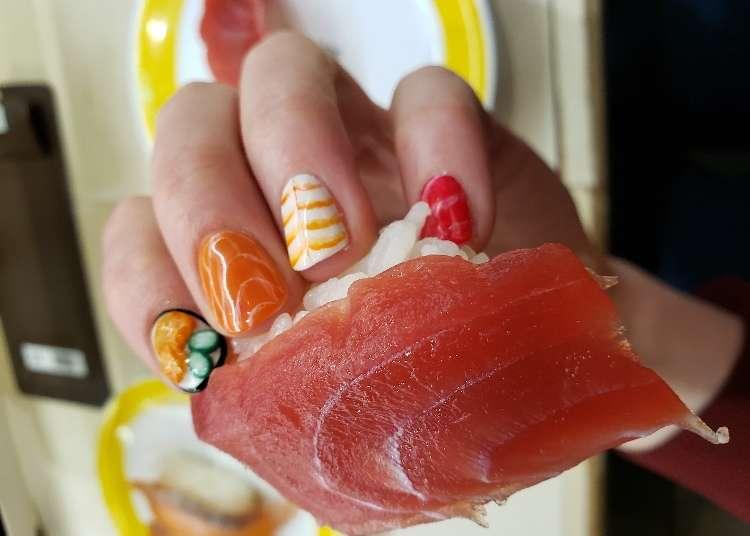 お寿司がネイルになっちゃった! 美味しそうで面白いネイルに外国人が挑戦