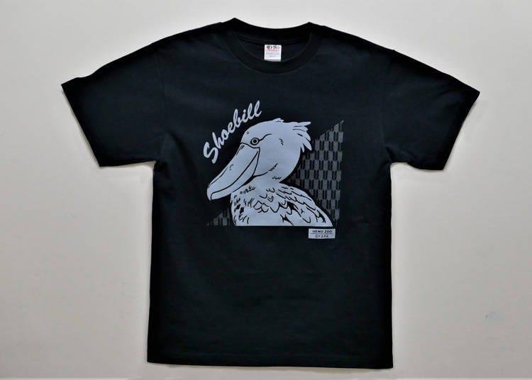 1位 1年に1度デザインが変わる「ハシビロコウ Tシャツ」