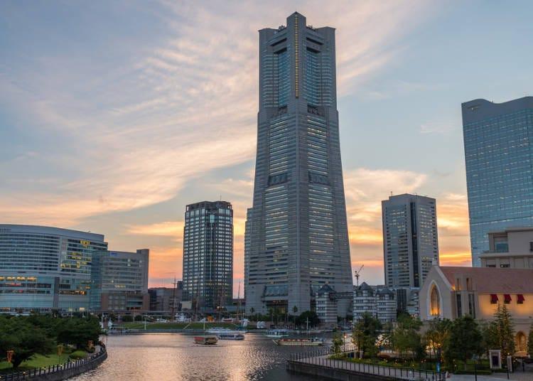 17:00 요코하마의 랜드마크 타워 전망대에서 요코하마를 한눈에!