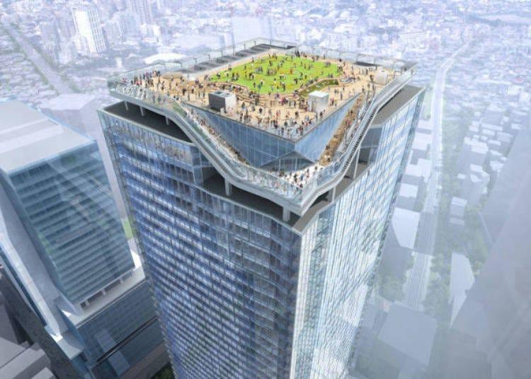 4. A new landmark, 47 stories high! Shibuya Scramble Square rooftop observation deck