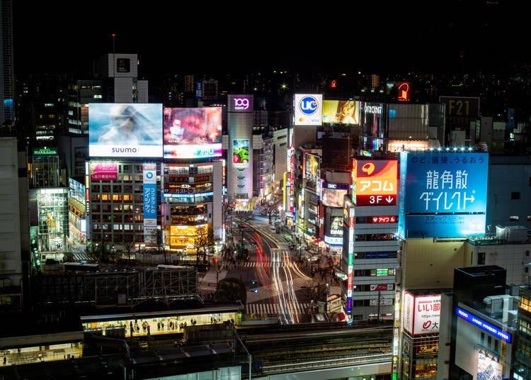 2. 渋谷駅直結の展望スポット「渋谷ヒカリエ スカイロビー」