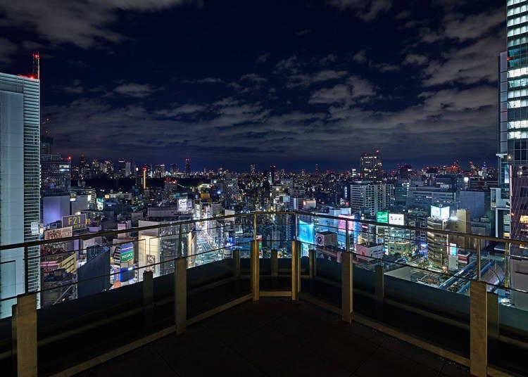 澀谷賞夜景景點③極具開放感的「東急PLAZA澀谷」空中花園「SHIBU NIWA」