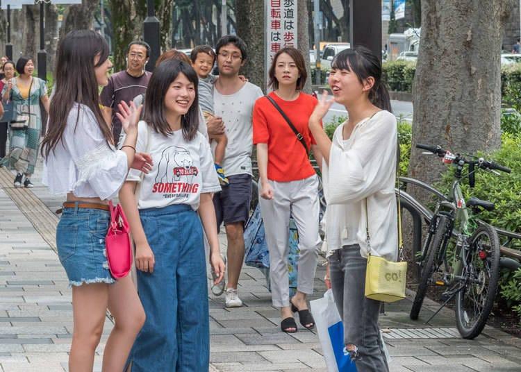 4. 雖然日本人都很親切,但大多數人好像都不太敢講英文耶…