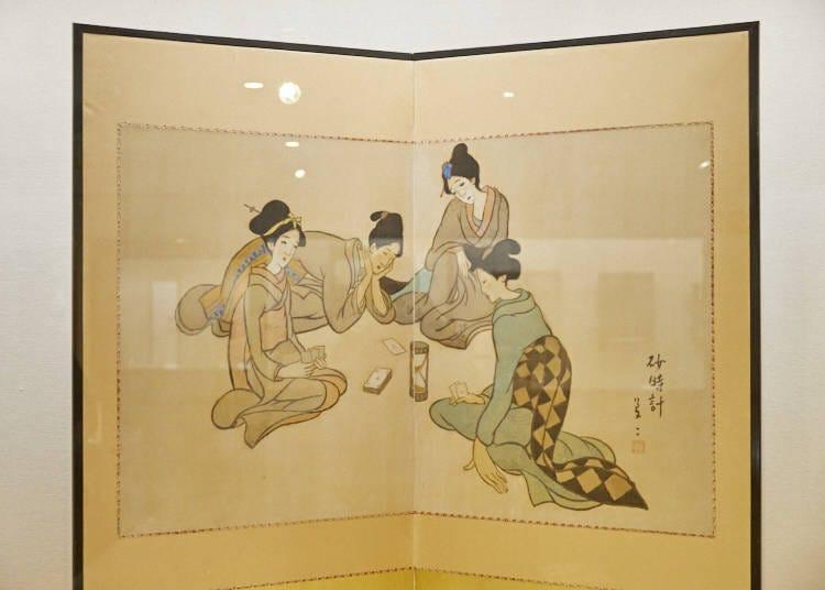 在夢二鄉土美術館觀賞竹久夢二的大作