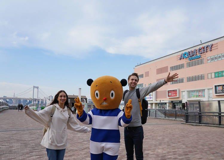 ようこそ、東京湾に面した「アクアシティお台場」へ