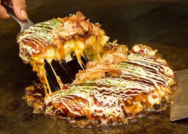 I was shocked to be able to grill okonomiyaki myself