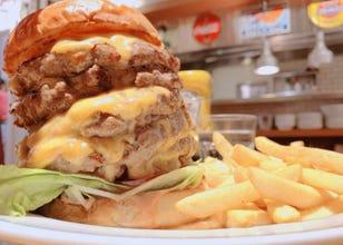 Bigger is definitely better with this monster cheeseburger in Yokohama