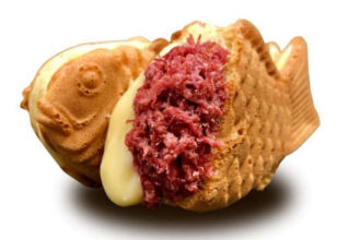 Corned beef taiyaki with melted cheese soon to be available for a limited time at popular chain