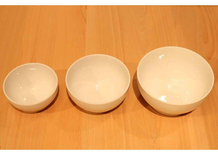 5. こども食器・磁器碗(小・350円、中・450円、大・550円/すべて税込)