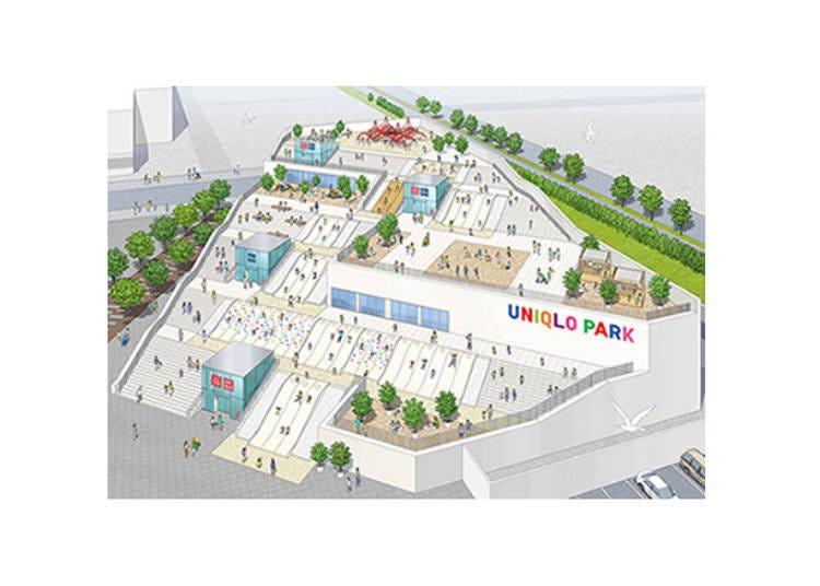 能購物還能到公園休息的「UNIQLO PARK橫濱灣岸店」