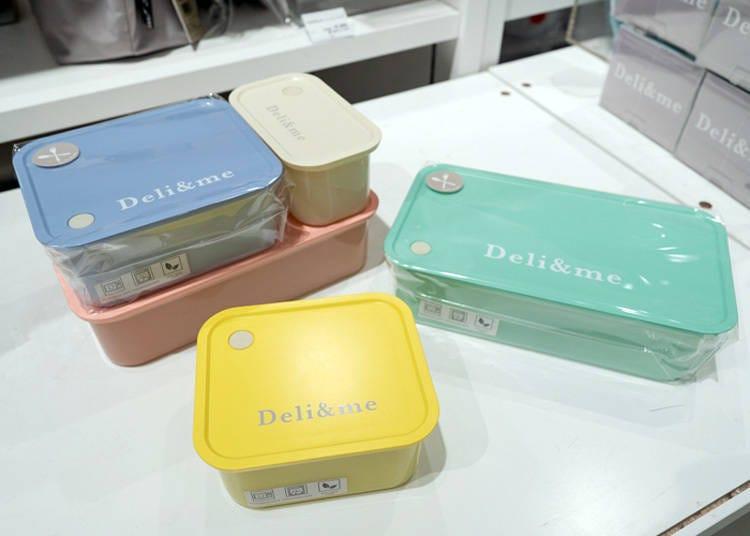 日本Loft文具、雜貨推薦2:顏色與大小都能自由組合的「Deli&me便當盒」