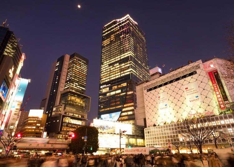 夜の渋谷で近未来都市を疑似体験