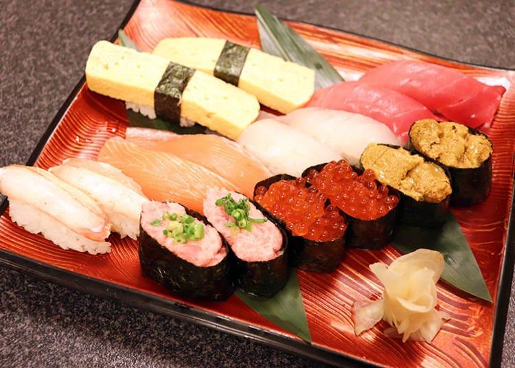 人気ネタの寿司・約80種類が食べ放題!