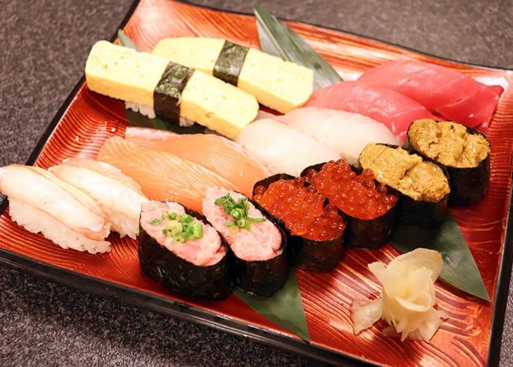 인기있는 재료로 만든 초밥 약 80종류를 뷔페로 즐기다!