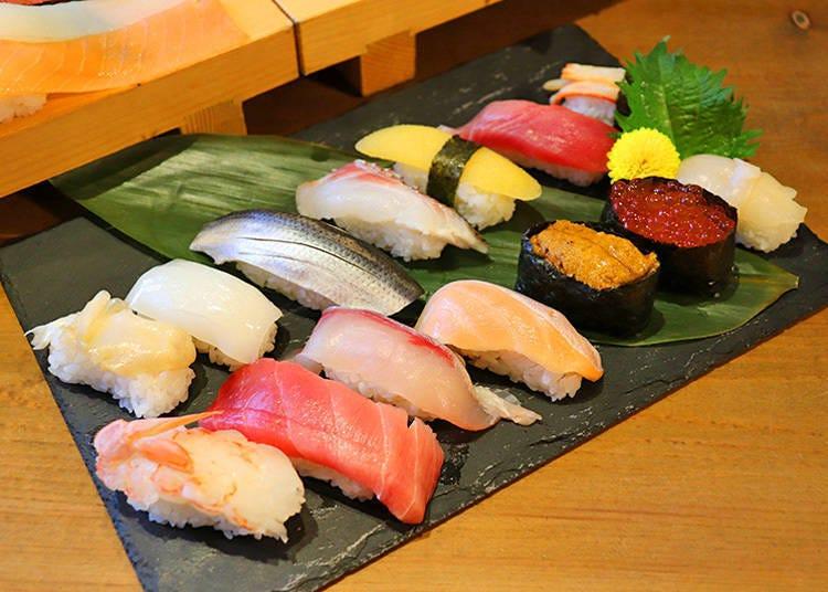 必点超长生鱼片寿司! 「50种寿司吃到饱 富山方案」