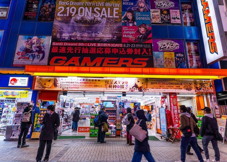 駅周辺でアニメグッズを探すなら!電気街口徒歩0分!コアなアニメファンが集まる「AKIHABARAゲーマーズ本店」